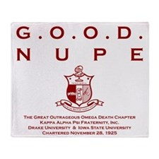 G.O.O.D. Nupe (Red) Throw Blanket