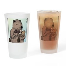 Mother Beaver and Baby Drinking Glass