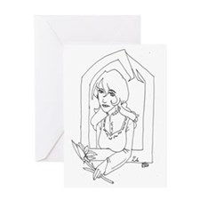 Dhampyr Heritage - Zola Greeting Card