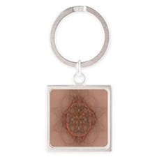 Design Adobe brown (queen) Square Keychain