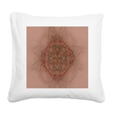 Design Adobe brown (queen) Square Canvas Pillow