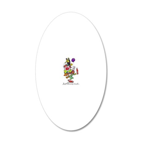 Clowning Around 2 20x12 Oval Wall Decal