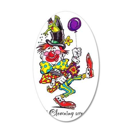 Clowning Around 2 35x21 Oval Wall Decal