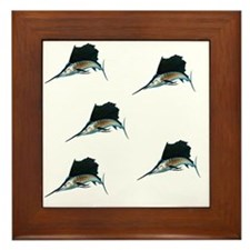 Repeating Single Sailfish1024 Framed Tile
