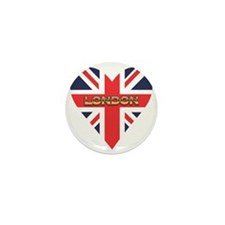London Heart Mini Button