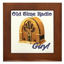 Old Time Radio Guy Framed Tile