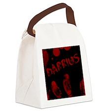 Darrius, Bloody Handprint, Horror Canvas Lunch Bag