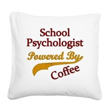School Psychologist Powered B Square Canvas Pillow