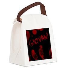 Giovani, Bloody Handprint, Horror Canvas Lunch Bag