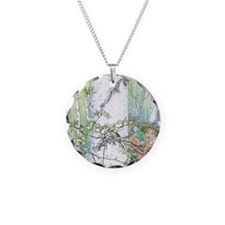 spring by Carl Larsson Necklace