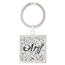 Arif, Matrix, Abstract Art Square Keychain