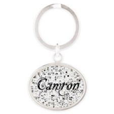 Camron, Matrix, Abstract Art Oval Keychain