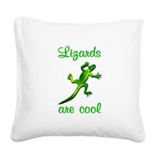 Lizards are Cool Square Canvas Pillow