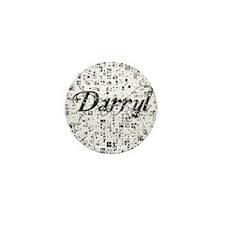 Darryl, Matrix, Abstract Art Mini Button