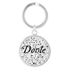 Donte, Matrix, Abstract Art Round Keychain
