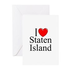 """I Love Staten Island"" Greeting Cards (Package of"