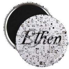 Ethen, Matrix, Abstract Art Magnet