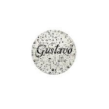 Gustavo, Matrix, Abstract Art Mini Button