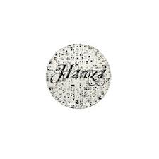 Hamza, Matrix, Abstract Art Mini Button