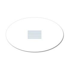 Cornflower Stripe Coin Purse 20x12 Oval Wall Decal
