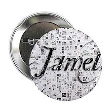 """Jamel, Matrix, Abstract Art 2.25"""" Button"""