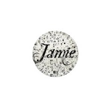 Jamie, Matrix, Abstract Art Mini Button