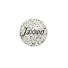 Jaxson, Matrix, Abstract Art Mini Button