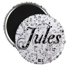 Jules, Matrix, Abstract Art Magnet