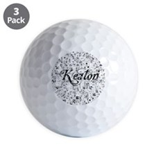 Keaton, Matrix, Abstract Art Golf Ball