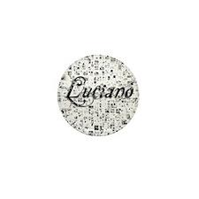 Luciano, Matrix, Abstract Art Mini Button