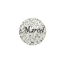 Marcel, Matrix, Abstract Art Mini Button