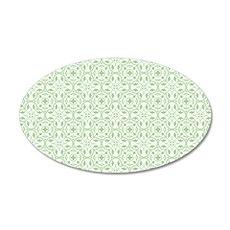 Amara Pistachio Coin Purse 35x21 Oval Wall Decal