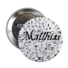 "Matthias, Matrix, Abstract Art 2.25"" Button"