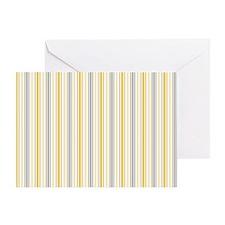 Amber Stripe Duvet King Greeting Card