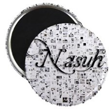 Nasuh, Matrix, Abstract Art Magnet