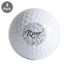 River, Matrix, Abstract Art Golf Ball