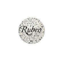 Ruben, Matrix, Abstract Art Mini Button