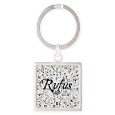 Rufus, Matrix, Abstract Art Square Keychain