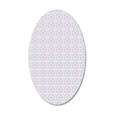 amara lavender Duvet Twin 35x21 Oval Wall Decal