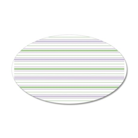 Lilac Stripe Toiletry Bag 35x21 Oval Wall Decal