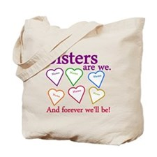 Sisters Are We Personalize Tote Bag