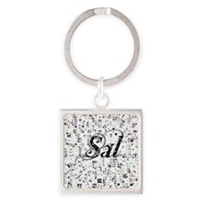 Sal, Matrix, Abstract Art Square Keychain