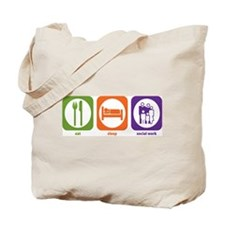 Eat Sleep Social Work Tote Bag