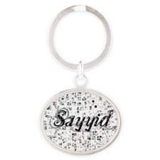 Sayyid, Matrix, Abstract Art Oval Keychain