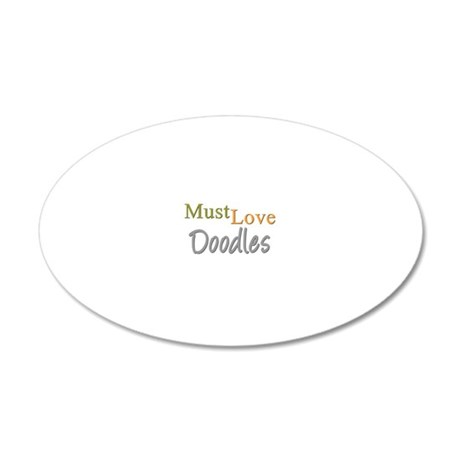 mustlovedoodles 20x12 Oval Wall Decal