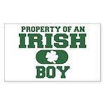 Property of an Irish Boy Rectangle Sticker