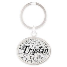 Trystan, Matrix, Abstract Art Oval Keychain