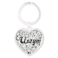 Usaym, Matrix, Abstract Art Heart Keychain