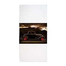 1932 black ford 5 window Beach Towel