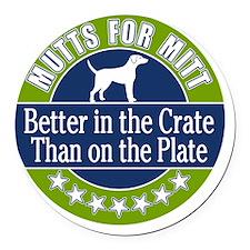 Mutts for Mitt Round Car Magnet